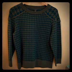 J Crew Merino Tippi Houndstooth Sweater